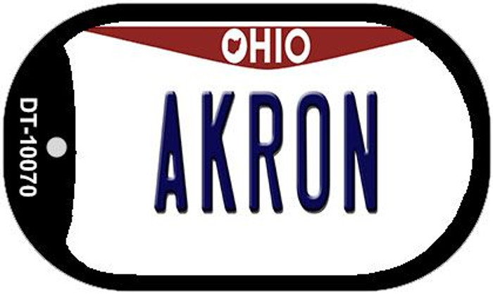 Akron Ohio Novelty Metal Dog Tag Necklace DT-10070