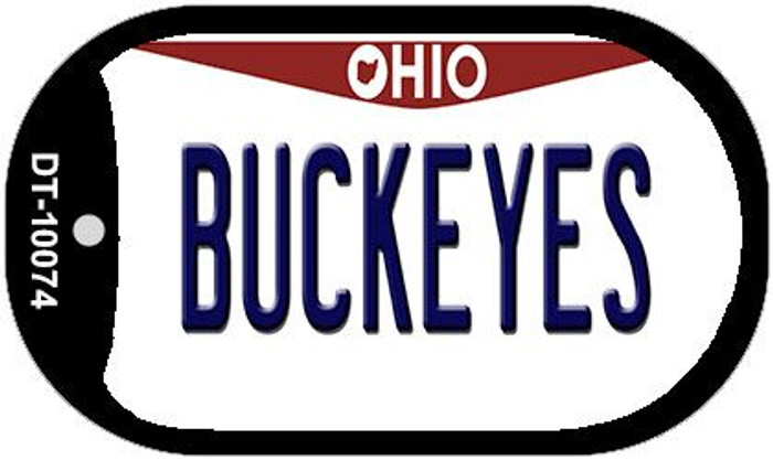 Buckeyes Ohio Novelty Metal Dog Tag Necklace DT-10074