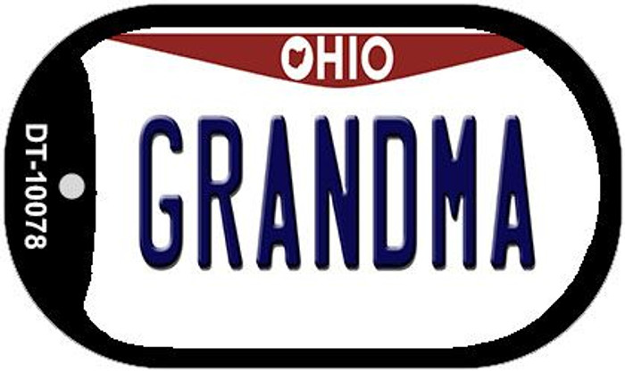 Grandma Ohio Novelty Metal Dog Tag Necklace DT-10078
