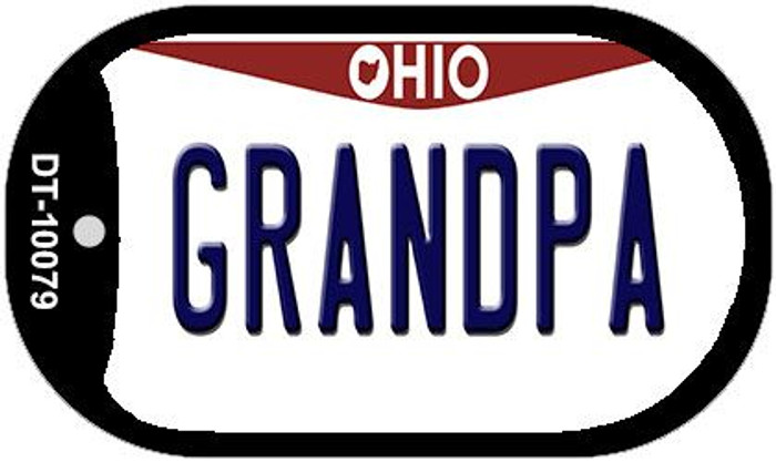 Grandpa Ohio Novelty Metal Dog Tag Necklace DT-10079
