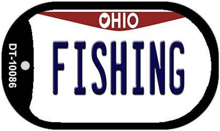 Fishing Ohio Novelty Metal Dog Tag Necklace DT-10086