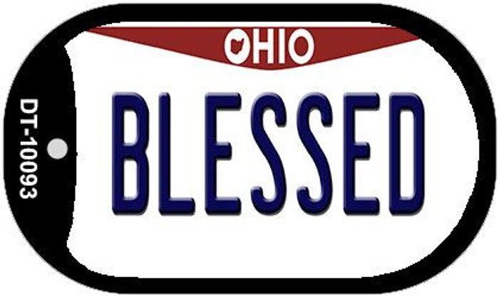 Blessed Ohio Novelty Metal Dog Tag Necklace DT-10093