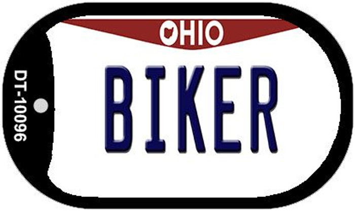 Biker Ohio Novelty Metal Dog Tag Necklace DT-10096