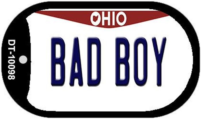 Bad Boy Ohio Novelty Metal Dog Tag Necklace DT-10098