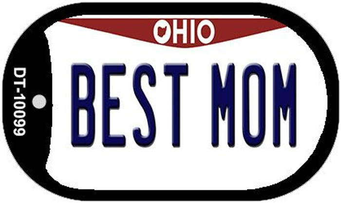 Best Mom Ohio Novelty Metal Dog Tag Necklace DT-10099
