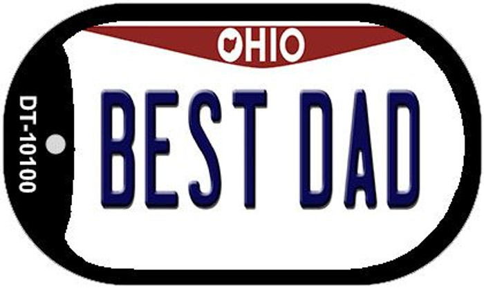 Best Dad Ohio Novelty Metal Dog Tag Necklace DT-10100