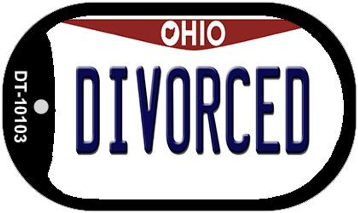 Divorced Ohio Novelty Metal Dog Tag Necklace DT-10103