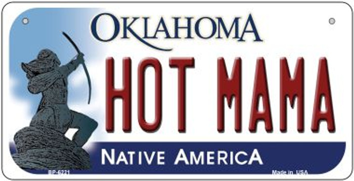 Hot Mama Oklahoma Novelty Metal Bicycle Plate BP-6221