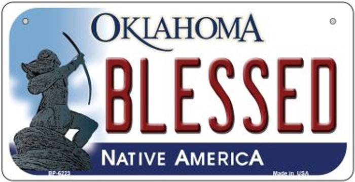 Blessed Oklahoma Novelty Metal Bicycle Plate BP-6223