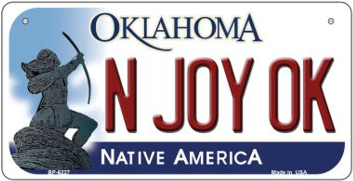 N Joy OK Oklahoma Novelty Metal Bicycle Plate BP-6227