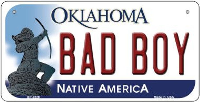 Bad Boy Oklahoma Novelty Metal Bicycle Plate BP-6229