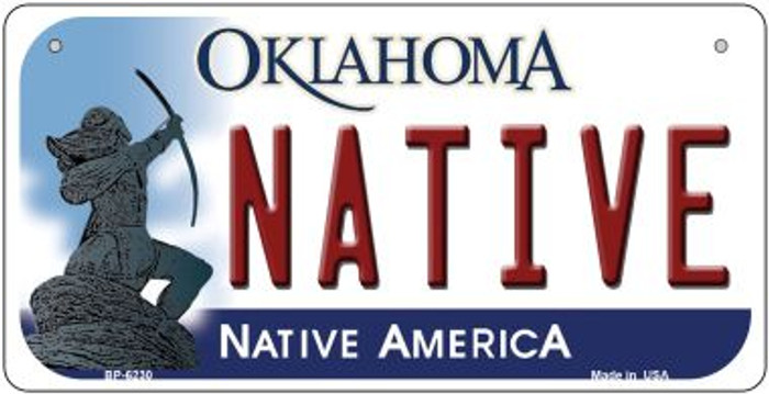Native Oklahoma Novelty Metal Bicycle Plate BP-6230