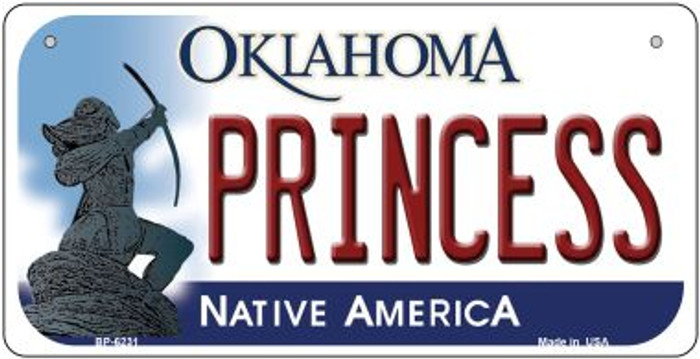 Princess Oklahoma Novelty Metal Bicycle Plate BP-6231