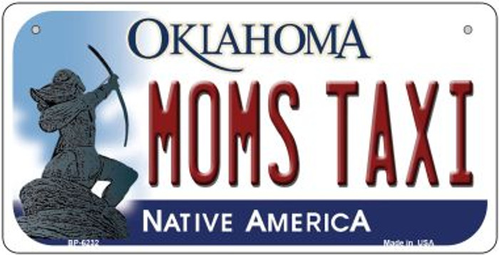 Moms Taxi Oklahoma Novelty Metal Bicycle Plate BP-6232