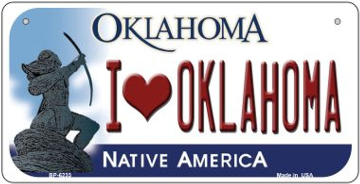 I Love Oklahoma Novelty Metal Bicycle Plate BP-6233