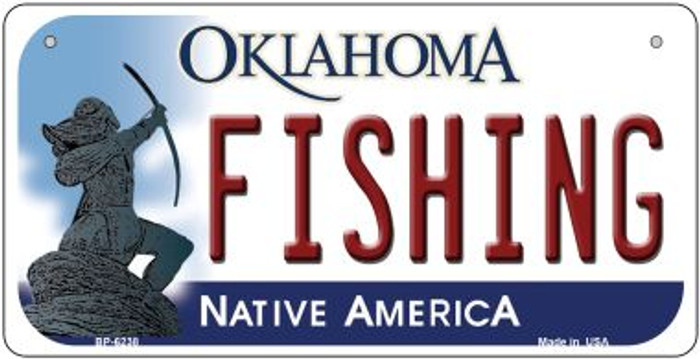 Fishing Oklahoma Novelty Metal Bicycle Plate BP-6238