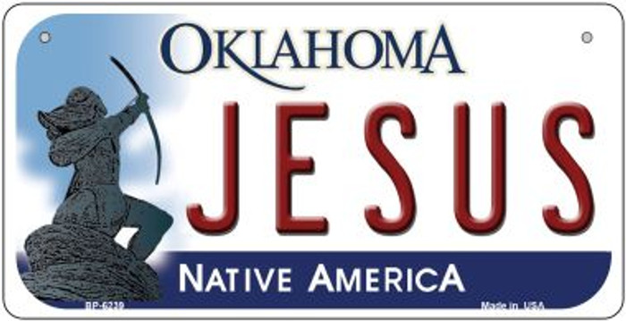 Jesus Oklahoma Novelty Metal Bicycle Plate BP-6239