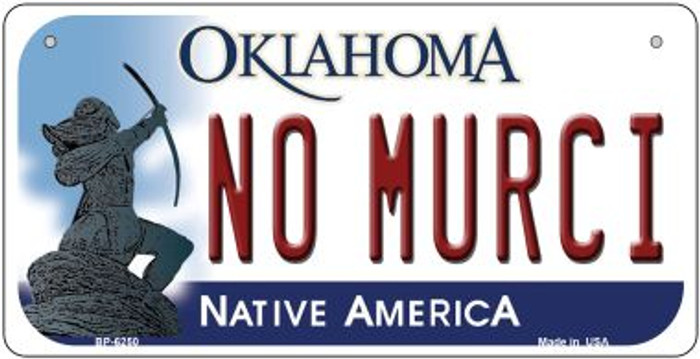No Murci Oklahoma Novelty Metal Bicycle Plate BP-6250