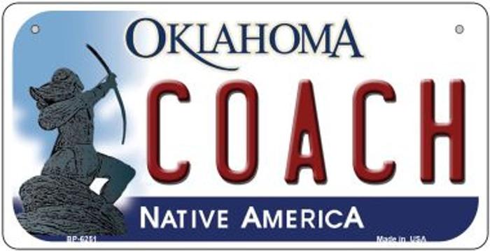 Coach Oklahoma Novelty Metal Bicycle Plate BP-6251