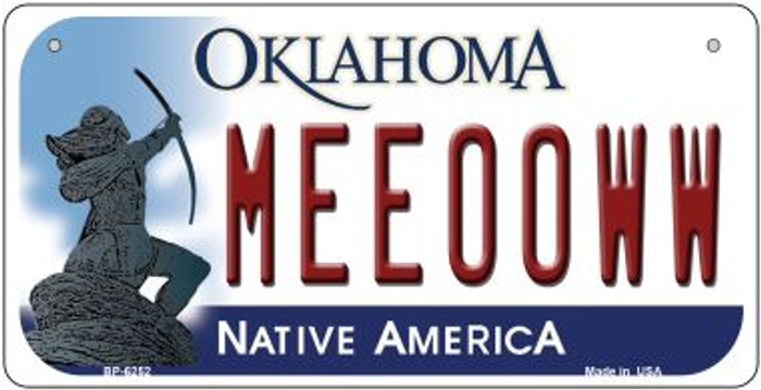 Meeooww Oklahoma Novelty Metal Bicycle Plate BP-6252
