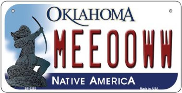 Meeooww Oklahoma Novelty Metal Bicycle Plate BP-6252