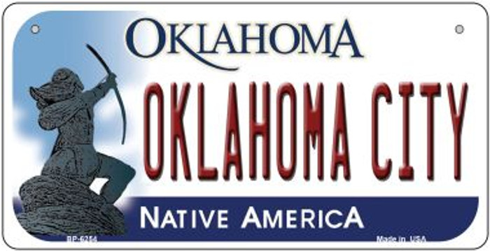 Oklahoma City Novelty Metal Bicycle Plate BP-6254
