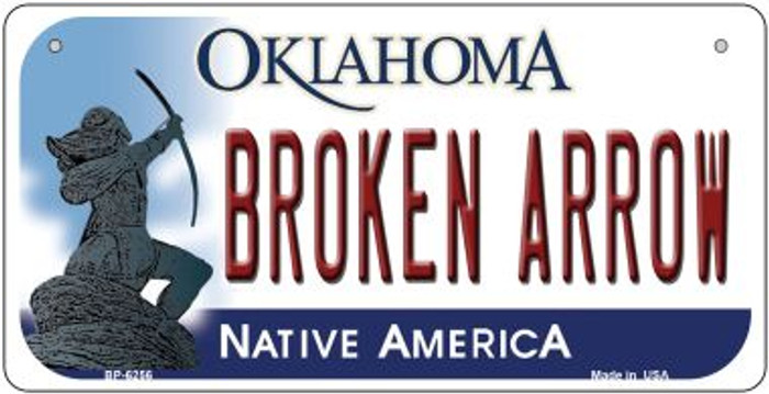 Broken Arrow Oklahoma Novelty Metal Bicycle Plate BP-6256