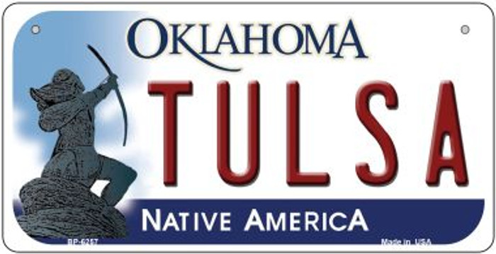 Tulsa Oklahoma Novelty Metal Bicycle Plate BP-6257