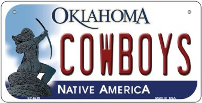 Cowboys Oklahoma Novelty Metal Bicycle Plate BP-6259