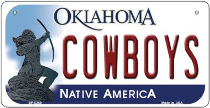Cowboys Oklahoma Novelty Metal Bicycle Plate BP-6259