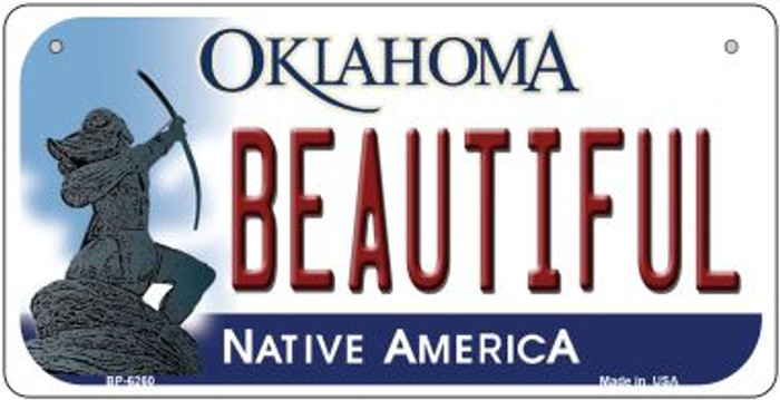 Beautiful Oklahoma Novelty Metal Bicycle Plate BP-6260