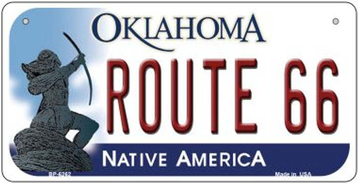 Route 66 Oklahoma Novelty Metal Bicycle Plate BP-6262