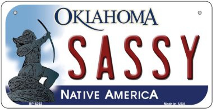 Sassy Oklahoma Novelty Metal Bicycle Plate BP-6263