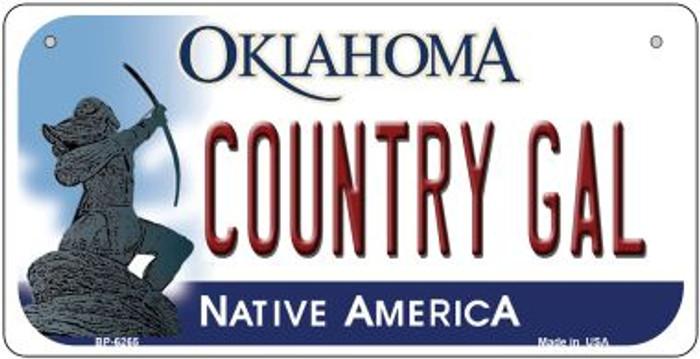 Country Girl Oklahoma Novelty Metal Bicycle Plate BP-6265