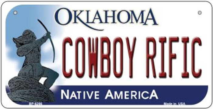Cowboy Rific Oklahoma Novelty Metal Bicycle Plate BP-6266