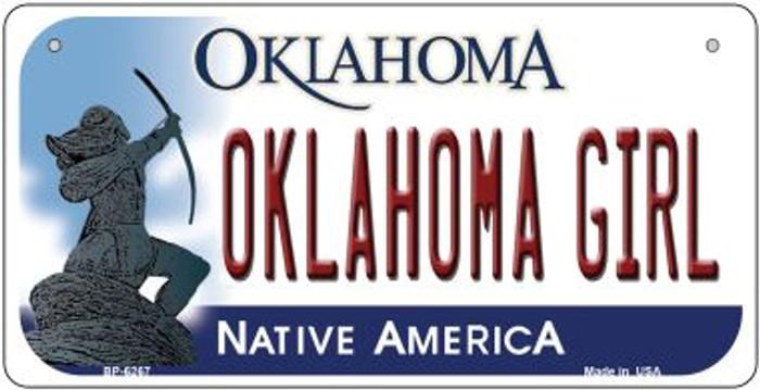 Oklahoma Girl Oklahoma Novelty Metal Bicycle Plate BP-6267