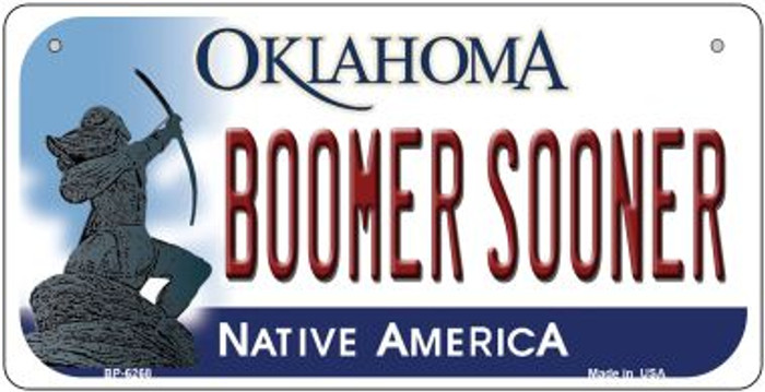 Boomer Sooner Oklahoma Novelty Metal Bicycle Plate BP-6268