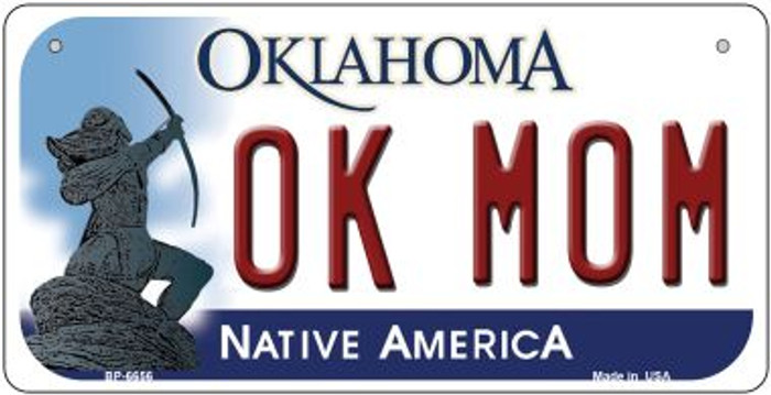 OK Mom Oklahoma Novelty Metal Bicycle Plate BP-6656