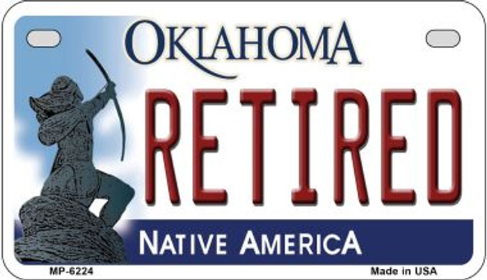 Retired Oklahoma Novelty Metal Motorcycle Plate MP-6224