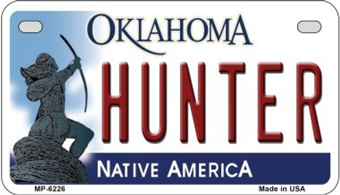Hunter Oklahoma Novelty Metal Motorcycle Plate MP-6226