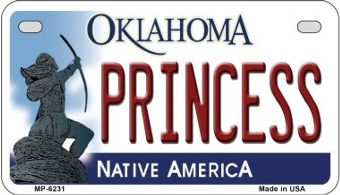 Princess Oklahoma Novelty Metal Motorcycle Plate MP-6231