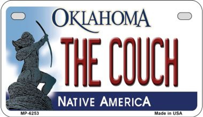 The Couch Oklahoma Novelty Metal Motorcycle Plate MP-6253