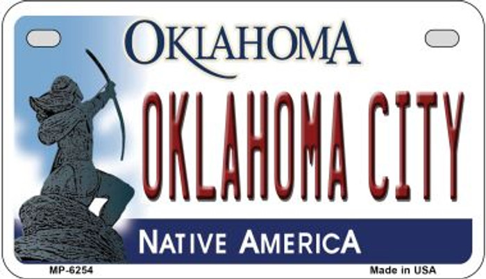 Oklahoma City Novelty Metal Motorcycle Plate MP-6254