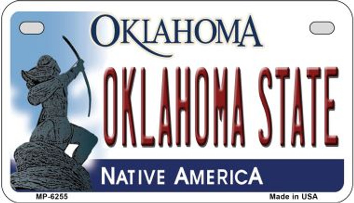 Oklahoma State Novelty Metal Motorcycle Plate MP-6255