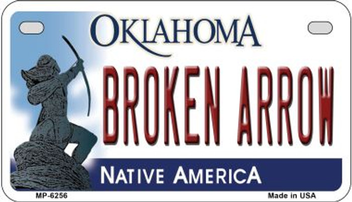 Broken Arrow Oklahoma Novelty Metal Motorcycle Plate MP-6256