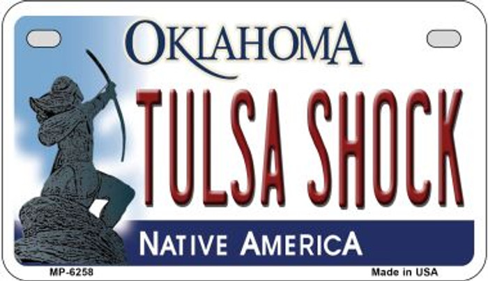 Tulsa Shock Oklahoma Novelty Metal Motorcycle Plate MP-6258