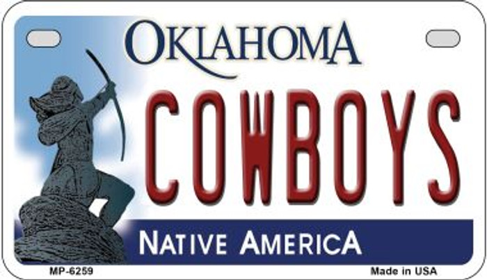 Cowboys Oklahoma Novelty Metal Motorcycle Plate MP-6259