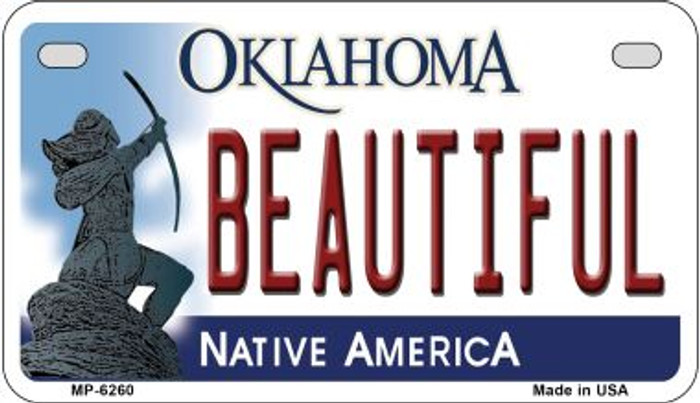 Beautiful Oklahoma Novelty Metal Motorcycle Plate MP-6260