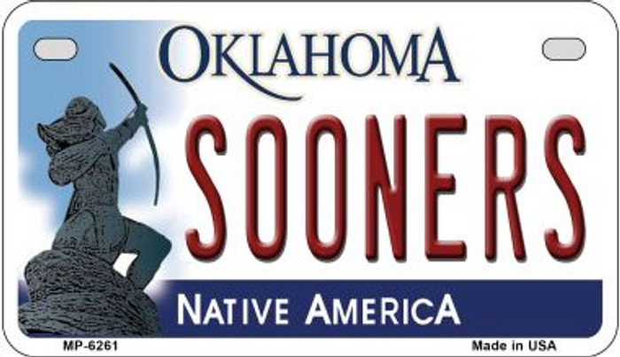 Sooners Oklahoma Novelty Metal Motorcycle Plate MP-6261