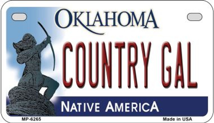 Country Girl Oklahoma Novelty Metal Motorcycle Plate MP-6265